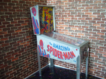 Amazing Spiderman 1/12th Scale Miniature Pinball Table Model